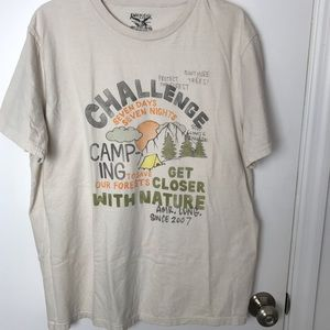 American Living Camping T-shirt. Size Large.